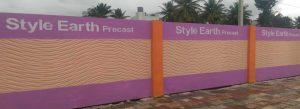 Pre Stressed Concrete Compound Wall